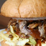 pulled pork sandwich, boathouse 19, tacoma
