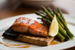 cedar planked salmon, boathouse 19, tacoma